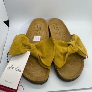 Joules Bayside Bow Slider Sandals Size US 10/EU 40